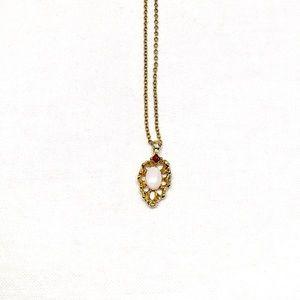 Jewelry - Vintage White Stone & Rhinestone Necklace